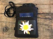 Water Lily Hemp 3 Zip Bag/Purse