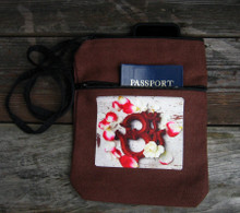 OM with rose petals 2 zip bag/purse