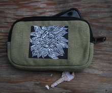 Black Sunflower Hemp Cell Phone/Wallet Case