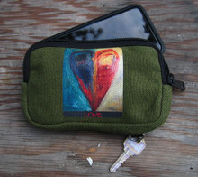 Night & Day Heart Hemp Cell Phone/Wallet Case