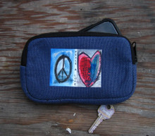 Peace & Love Hemp Cell Phone/Wallet Case