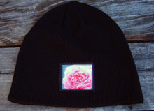 Pink Rose Organic Cotton Beanie