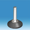 M10 Non Tilt Adjuster with a Conical 45mm Foot and Hex Nut