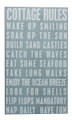 """COTTAGE RULES"" DECORATIVE WOODEN SIGN - WALL ART"