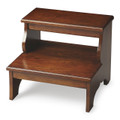 SHERWOOD FOREST STEP STOOL - BED STEPS - CHESTNUT BURL FINISH - FREE SHIPPING*