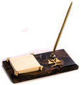 """SCALES OF JUSTICE"" MARBLE PEN STAND & POST IT NOTE HOLDER - LAWYERS & LEGAL"