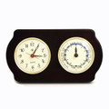 """NEWPORT"" CLOCK AND TIDE CLOCK ON ASH WOOD BASE - NAUTICAL DECOR"