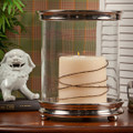 CHELSEA CYLINDER HURRICANE CANDLE HOLDER - NICKEL FINISH
