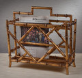 CANTON MAGAZINE RACK - BAMBOO STYLE MAGAZINE HOLDER
