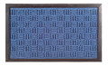 "BUCKINGHAM SYNTHETIC DOORMAT - BLUE - 16"" x 24"" - POLYPROPYLENE & RUBBER DOOR MAT"