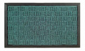 "BUCKINGHAM SYNTHETIC DOORMAT - AQUA - 18"" x 30"" - POLYPROPYLENE & RUBBER DOORMAT"