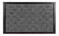 "BUCKINGHAM SYNTHETIC DOORMAT - CHARCOAL - 24"" x 36"" - POLYPROPYLENE & RUBBER DOOR MAT"