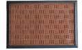 "BUCKINGHAM SYNTHETIC DOORMAT - BROWN - 16"" x 24"" - POLYPROPYLENE & RUBBER DOOR MAT"