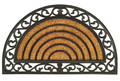 "MARSEILLES DEMILUNE RUBBER BACK COIR DOORMAT - 18"" x 30"" -  WELCOME MAT - DOOR MAT"