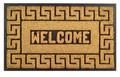 """GREEK KEY RUBBER BACK COIR WELCOME MAT - 18"""" x 30"""" - DOORMAT"""