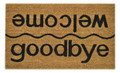 "WELCOME / GOODBYE COIR DOORMAT - 18"" X 30"" - DOOR MAT - WELCOME MAT"