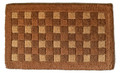 "CHECKERBOARD TRADITIONAL COIR DOORMAT - 18"" x 30"" - WELCOME MAT"