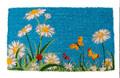 """FLOWER GARDEN COIR DOORMAT - 18"""" x 30"""" - DOOR MAT - WELCOME MAT"""