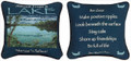 """ADVICE FROM A LAKE"" REVERSIBLE THROW PILLOW - 12.5"" SQUARE - LAKE HOUSE PILLOW"
