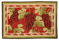 """TUSCAN VINEYARD"" HAND HOOKED RUG - 22"" X 34"" - GRAPE CLUSTERS"