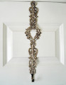 SCROLL WREATH HANGER - WREATH HOLDER -  NICKEL FINISH
