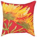 "FLORIBUNDA DECORATIVE PILLOW - 18"" SQUARE - INDOOR OUTDOOR PILLOW"