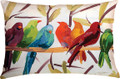 "BIRDS OF A FEATHER PILLOW - 24"" X 18"" - OBLONG PILLOW"
