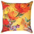 "KESWICK GARDEN FLORAL PILLOW - 18"" SQUARE - INDOOR OUTDOOR PILLOW"