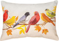 "AUTUMN BIRDS OBLONG PILLOW - 18"" x 13"" - INDOOR OUTDOOR PILLOW"