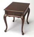 CARLYLE MANOR INLAY END TABLE - CHERRY FINISH - FREE SHIPPING*