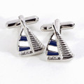 """REGATTA"" SAILBOAT CUFF LINKS - NAUTICAL CUFFLINKS"