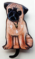PUG WAGGING TAIL WALL CLOCK - DOG CLOCK