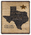 "DON'T MESS WITH TEXAS TAPESTRY THROW BLANKET - 50"" x 60"" - LONE STAR STATE THROW"