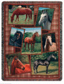 STATELY STEEDS TAPESTRY THROW BLANKET - EQUESTRIAN - HORSE LOVERS THROW