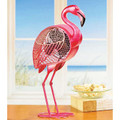 """FLORIDA KEYS"" PINK FLAMINGO SINGLE-SPEED ELECTRIC TABLE FAN - PORTABLE FLAMINGO FAN"