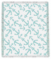 "INTERLOCKING ANCHORS THROW BLANKET - 48"" X 60"""