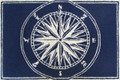 """MARINERS COMPASS"" INDOOR OUTDOOR RUG - 24"" x 36"" -  BLUE - NAUTICAL DECOR"