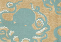 """OCEAN DWELLING OCTOPUS  INDOOR OUTDOOR RUG - 24"""" X 36"""" - NAUTICAL DECOR"""