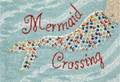 "MERMAID CROSSING INDOOR OUTDOOR RUG - 24"" x 36"" - NAUTICAL DECOR"
