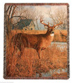 "STANDING STRONG TAPESTRY THROW BLANKET - 50"" X 60"" - DEER THROW"