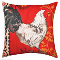 """FRENCH COUNTRY ROOSTER PILLOW  - 18"""" SQUARE"""