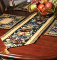 OLD WORLD ORCHARD TAPESTRY TABLE RUNNER - FRUIT TABLE RUNNER