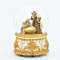 """O COME ALL YE FAITHFUL"" MUSICAL NATIVITY SNOW GLOBE - HOLY FAMILY GLITTER DOME"
