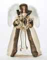"""CHRISTMAS TREE TOPPERS - ANGEL WITH WREATH TREE TOPPER - 16""""H"""