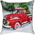 DECORATIVE PILLOWS - JOY RIDING LABRADOR RETRIEVER PILLOW - INDOOR OUTDOOR