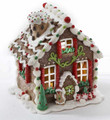 LED LIGHTED GINGERBREAD HOUSE WITH GINGERBREAD MAN
