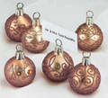 PLACE CARD HOLDERS - GLASS ORNAMENT PLACECARD HOLDERS - BURNISHED GOLD - SET/6