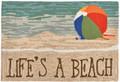 """LIFE'S A BEACH"" RUG - 20"" x 30"" -  INDOOR OUTDOOR RUG - BEACH BALL"