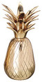 "BRASS PINEAPPLE CANDLE HOLDER - 5""H"