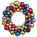 "CHRISTMAS WREATHS - 12"" DIAMETER MULTICOLOR ORNAMENT WREATH - SHATTERPROOF ORNAMENTS"